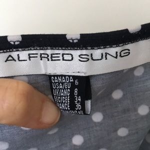 ALFRED SUNG Dresses - ❤️Strapless Circle Dot Pattern Dress